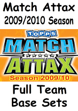 Match Attax 2009/10 Full Team Base Sets 16 cards Topps 2009/2010 09/10 09 10