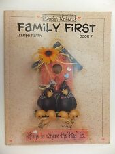 Family First Book 7 Decorative Tole Painting Wooden Writes Book by Larae Parry