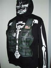 Extreme Fighter Camo Army Military Skeleton Full Zip Hoodie Jacket Costume Boys