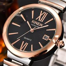 Fashion Women Watch Unisex Luxury Stainless Steel Quartz Date Wrist Watches Gift