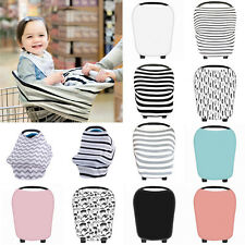 New Multi-Use Stretchy Newborn Infant Nursing Cover Baby Car Seat Cart Cover CA