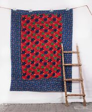 Indian-Handmade Vintage Kantha Quilt Bedspread Throw Cotton Blanket Twin Gudri