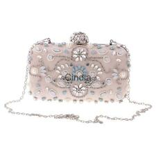 Luxury Diamantes Beaded Evening Bag Clutch Crystal Purse Wedding Party Handbag