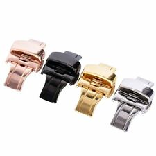 Stainless Steel Butterfly Push Button Deployment Watchwrist Band Buckle Clasp