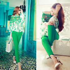 Chiffon Leaf Pattern Long Sleeve Blouse Embroidery Hot Women Lace Patchwork
