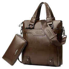 Men's Leather Handbag Laptop Bag Crossbody Messenger Shoulder Business Briefcase