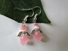 Breast cancer awareness Hope angel heart pink ribbon earrings various styles