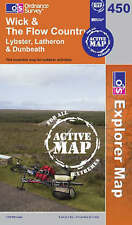Wick and the Flow Country - OS Explorer ACTIVE Map 450 (NEW 2007 folded sheet