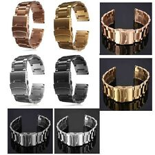 18/20/22/24MM Stainless Steel Watch Band Strap Double Lock Bracelet Straight End