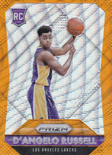 D' ANGELO RUSSELL 2015-16 PRIZM ORANGE WAVE PRIZM ROOKIE SP RC #322 LAKERS NETS