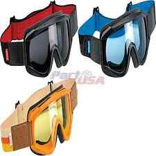 Biltwell Overland Goggles Street Clear/Tinted Lens Solid