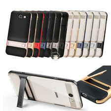 For Samsung Galaxy J3 Prime / Sol 2 Case Dual Layer Armor Stand Protective Cover