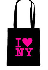 I LOVE HEART NY NEW YORK SHOPPING SCHOOL COLLEGE TOTE BAG USA FUN BIRTHDAY GIFT