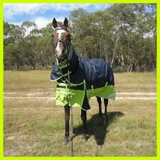Love My HORSE 600D 300g 5'0 - 6'6 Reflective Winter Combo Horse Rug Navy / Lime