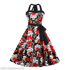 50'S Rockabilly Dress Lady Vintage Style Swing Pinup Retro Housewife Party Dress