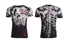 Xtreme Couture AFFLICTION Men T-Shirt PERSIMMON Skull Tattoo Biker UFC