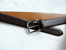 New Tommy Hilfiger Men's Brown Square Buckle Casual Belt Size: 32, 40