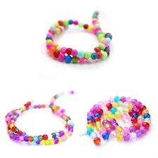 "Round Bright Glass Beads. Frosted, Crackle Or Baking Painted ""Gumball"". 6,8,10mm"
