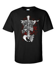 Skeleton Men T-Shirt Goth Punk Rock Grunge Skull Tattoo Alternative Ink Metal