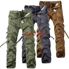 Mens Military Combat Work Pants Army Cotton Cargo outdoor Trousers overalls 38
