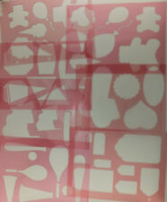 Stencil Template Party Tags Flags Banners Sports by Deja Views C Thru U PICK