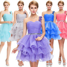 Organza Mini Homecoming DRESS Evening Prom Ball Gown Cocktail Short PARTY Dress