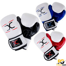 Leather Boxing Gloves MMA Training Muay Thai Fight Punch Bag Sparring Training