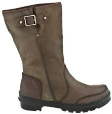 OTBT DEER LODGE DARK BROWN LEATHER BOOTS 6.5  ZIP UP CALF COMFORT FASHION