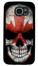 SKULL CANADA FLAG PHONE CASE COVER FOR SAMSUNG NOTE & GALAXY S4 S5 S6 S7 S8 S9 +