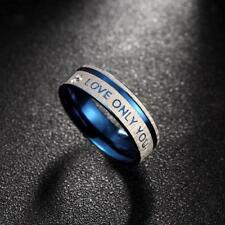 Stainless Steel Love & Commitment LOVE ONLY YOU Wedding Valentine Band Ring