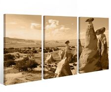Canvas 3 pc Turkey Mountain Mountains Sand Landscape Pictures Stretched 9a306