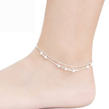 Simple Love  Sterling Silver Anklet Foot Chain Ankle Bracelet Charm