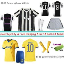 17-18 Home football kit Children short sleeve suits soccer Jersey boys 3-14Years