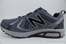 MENS 410 NEW BALANCE GRAY BLACK WIDE TRAIL RUNNING HIKING SHOES MT410LT5 NEW