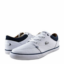 Mens Shoe Lacoste Bayliss Vulc 317 Leather Sneaker 34CAM0009042 White Navy *New*