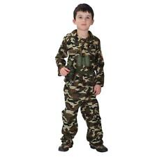 Kid Boys Army Soldier Costume Uniform Child Party Fancy Dress Outfit Costume
