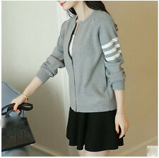 new Autumn Korean fashion elegant loose cardigan thin Knitting sweater coat