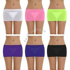 Sexy Women's Lady Candy Color Stretch Tight Short Bodycon Pleated Mini Skirt Hot