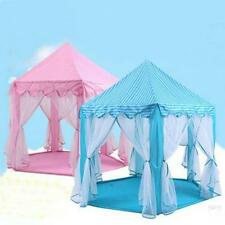 Princess Castle Play Tent Kids Pink Blue House Indoor Outdoor Girls Playhouse
