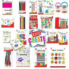 KIDS CREATE ART STATIONERY RANGE / ALL ITEMS 99P PAPER PENS CRAYONS GLITTER GLUE