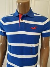 NWT Hollister Hco Mens Polo Tee T-Shirt Grey/Blue/Red S/M/L