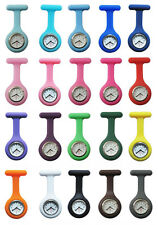 11 Colors/1Pc Silicone Brooch Tunic Fob Pocket Nurse Fashion  Watch Free Battery