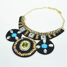 Trendy Handmade Embroidery Multi-color Ethnic Vintage Women Necklace