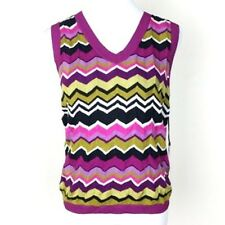 Missoni for Target Sleeveless Sweater Vest Shell Pullover Purple Pink NEW