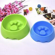 New Hot Pet Dog Cat Puppy Slow Eating Feeder Bowl Plastic Feed Bloat Dish