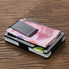Men Stainless Steel Elastic Band Slim Money Clip Credit Card Holder Wallet Purse