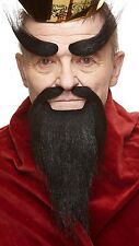 High quality Shaolin Monk fake, self adhesive beard, mustache and eyebrows