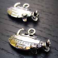 Submarine Wholesale Silver Plated Ocean Charm Pendants C2861 - 5, 10 Or 20PCs