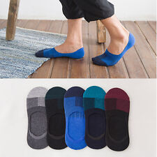 5 10 Pairs Mens Invisible No Show Nonslip Loafer Boat Ankle Low Cut Cotton Socks