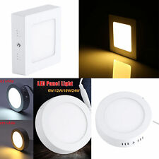 6/12/18/24W White Surface Mounted LED Panel Light Ceiling Downlight Wall Lamp